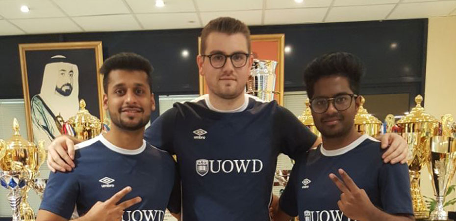 UOWD's men's table tennis team crowned champions at recent AUS Racket Tournament