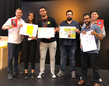 UOWD team's website design awarded first prize in ASLI - OSN Hackathon
