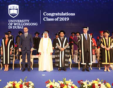 His Excellency Sheikh Nahayan Bin Mubarak Al Nahayan Celebrates UOWD's 35th Graduation Ceremony