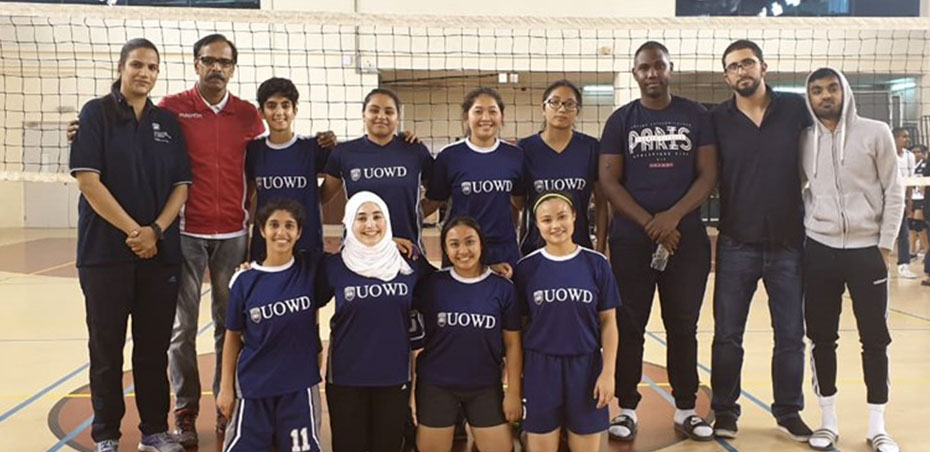 UOWD girls' volleyball team stars of sports season