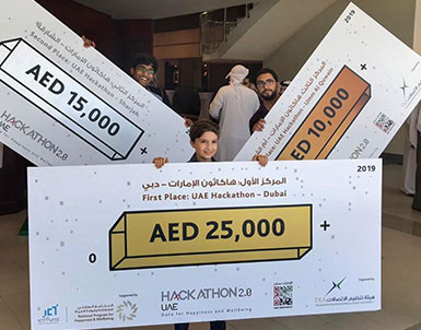 UOWD students and alumnus excel in Data for Happiness Hackathon
